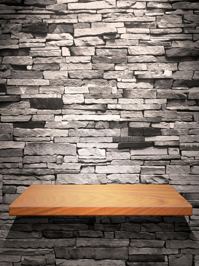trä för hyllastenvägg arkivbilder