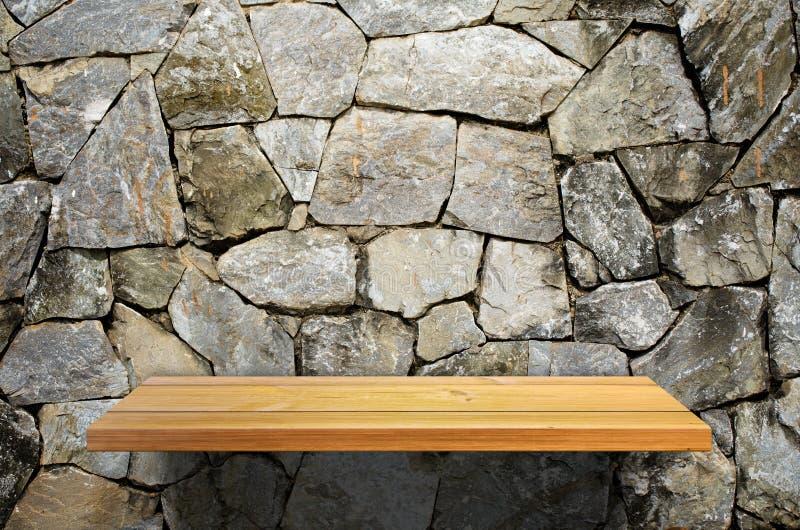 trä för hyllastenvägg arkivbild