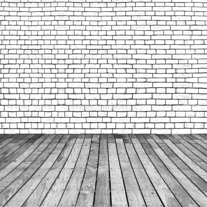 Trä och tegelstenbakgrund royaltyfri fotografi