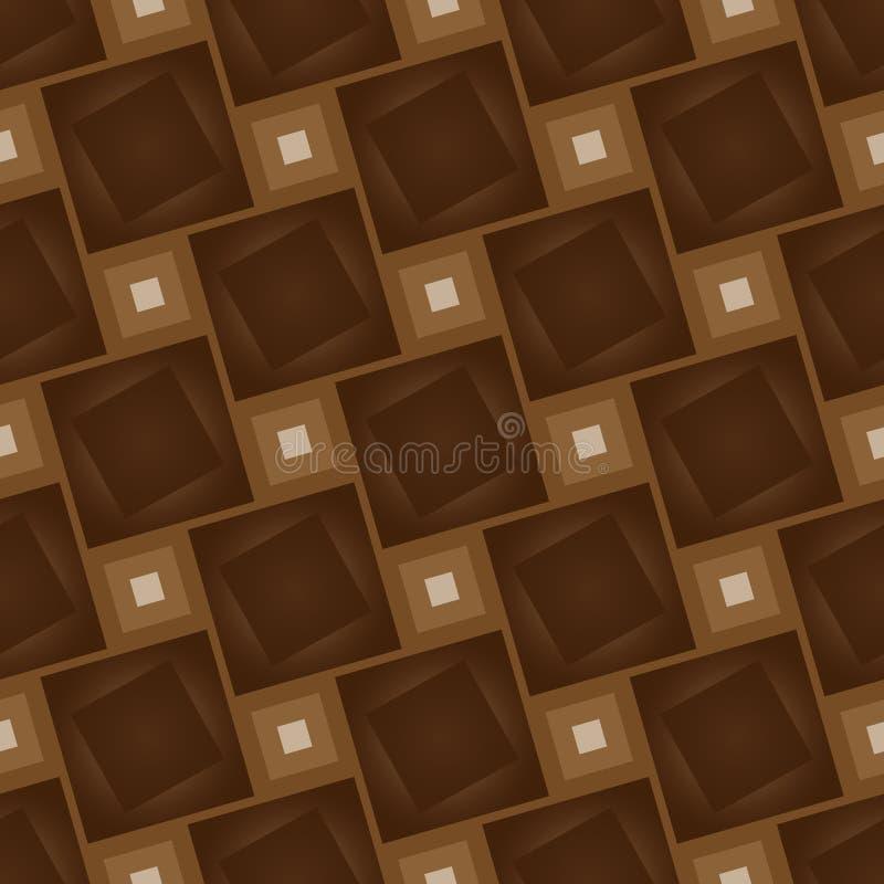 Trä som sömlös textur för tegelplattor med naturlig stilbakgrund royaltyfri illustrationer