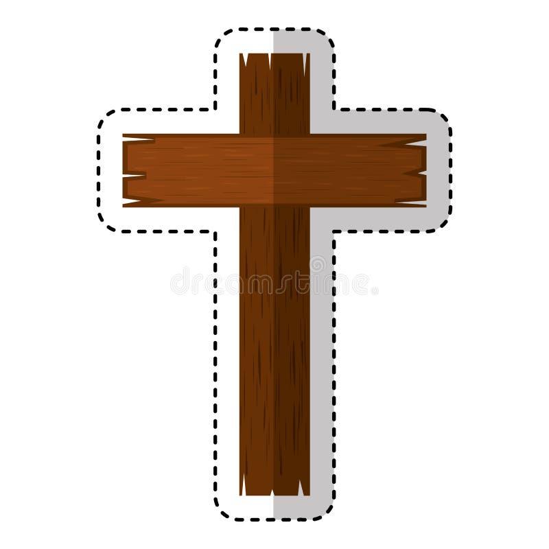Träarg religiös symbol royaltyfri illustrationer