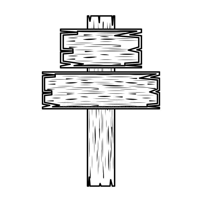 Träarg religiös symbol stock illustrationer