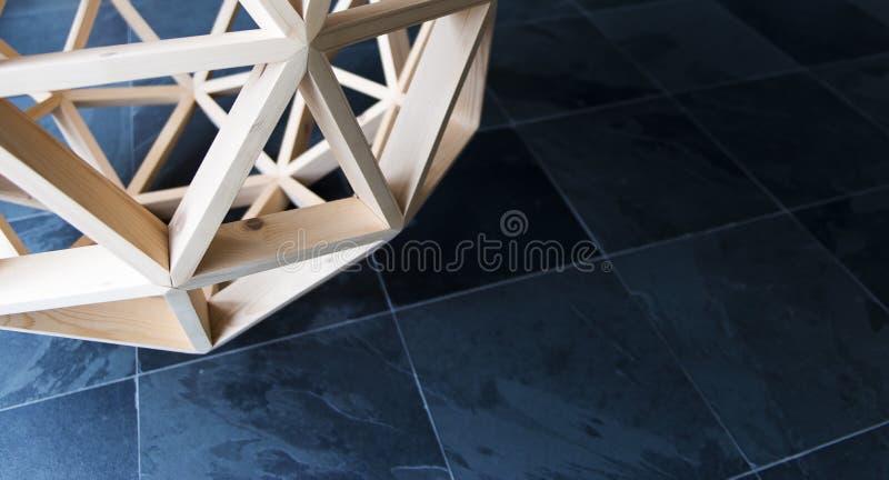 Träbakgrund för geometrisk struktur för polygon royaltyfri foto