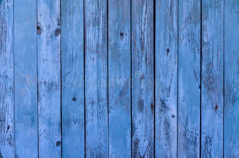 Träbakgrundstexturen för blått lantligt bräde fotografering för bildbyråer
