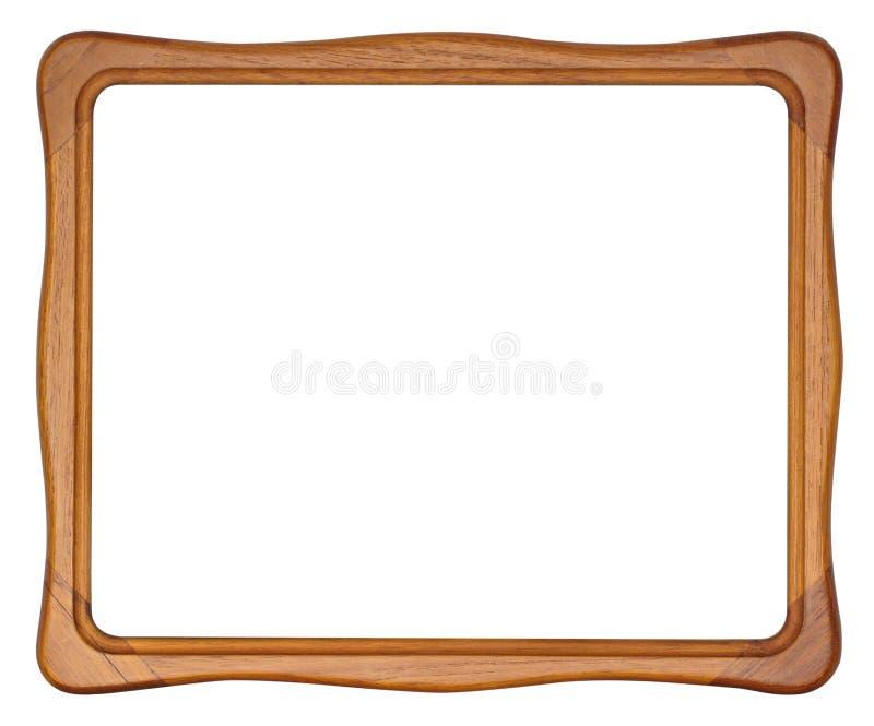 Träbildram med isolerade rundade hörn royaltyfria foton
