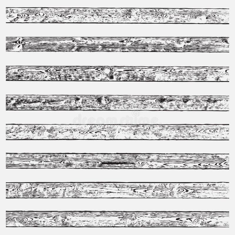 Träborsteuppsättning stock illustrationer