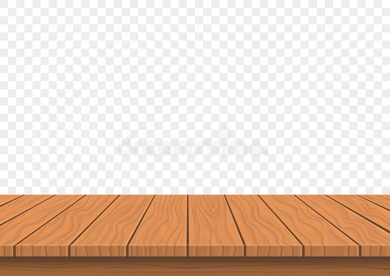 Träbrädeöverkant på genomskinlig bakgrund stock illustrationer