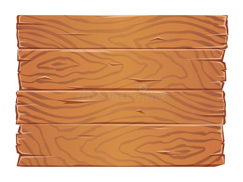Träbrädetexturclipart Gamla träplankor sid - förbi - sidan Plan vektorillustration bakgrund isolerad white vektor illustrationer
