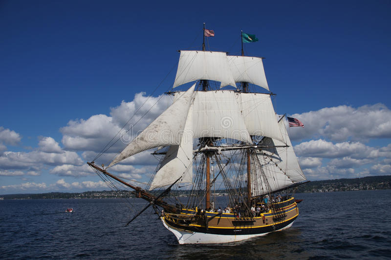 Träbrigen, Lady Washington royaltyfria bilder