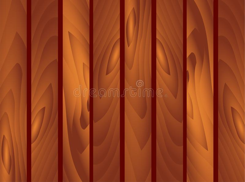 Träbrun plankabakgrund Trädgårds- staket, fäktning, ledstång St Patrick Day, marsch, vår, vägg, trä, golv, textur Vect vektor illustrationer