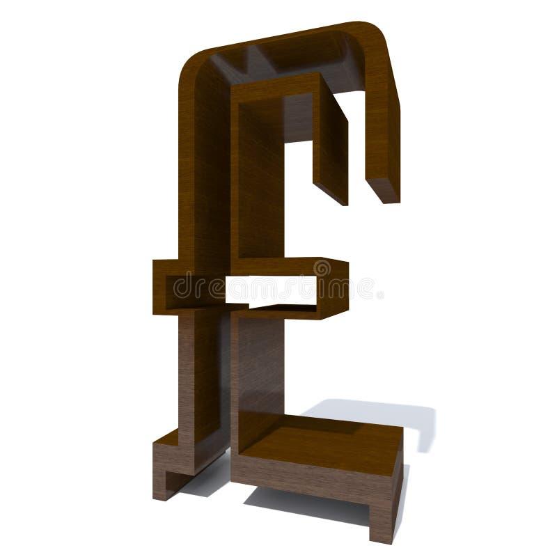 Träbrun stilsorts- eller typ-, timmer- eller bråtebransch vektor illustrationer