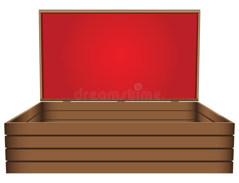 Träcasket stock illustrationer
