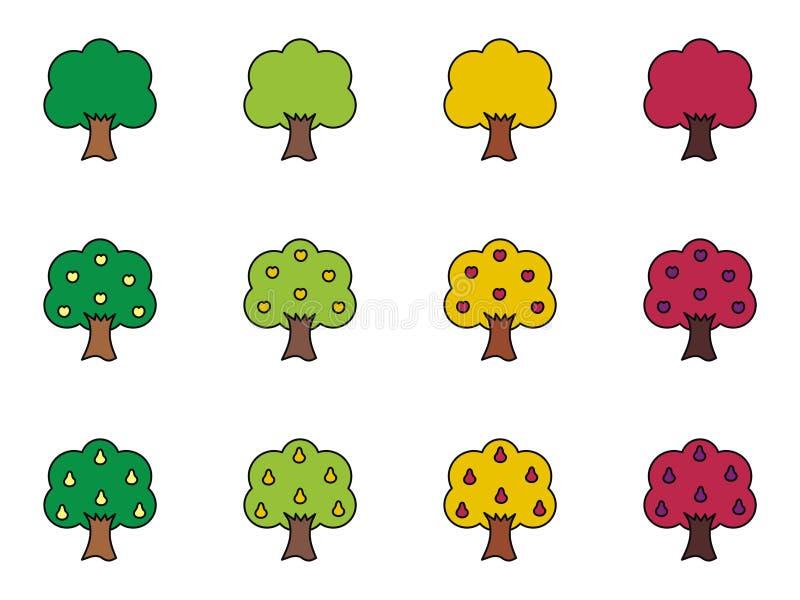 Träd royaltyfri illustrationer