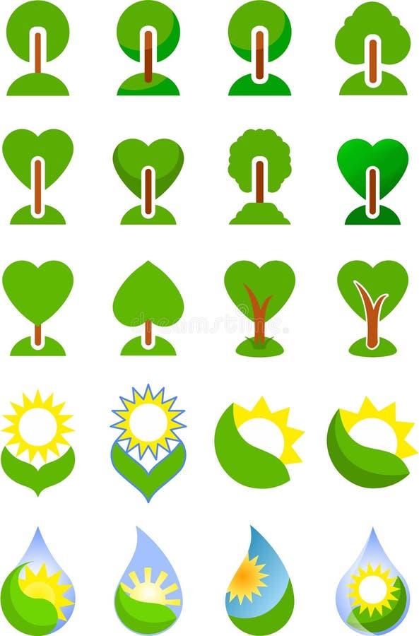 Träd stock illustrationer