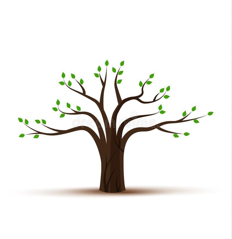 Träd 09 vektor illustrationer
