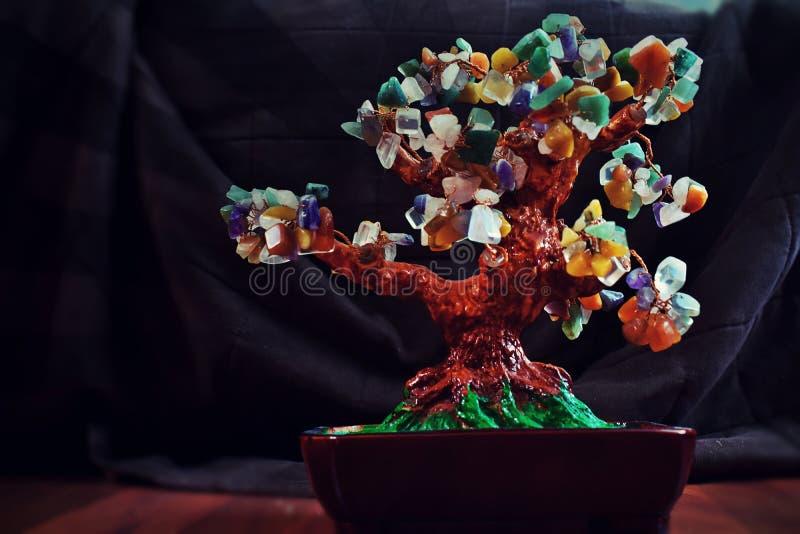 Träd av ädelstenar royaltyfri fotografi
