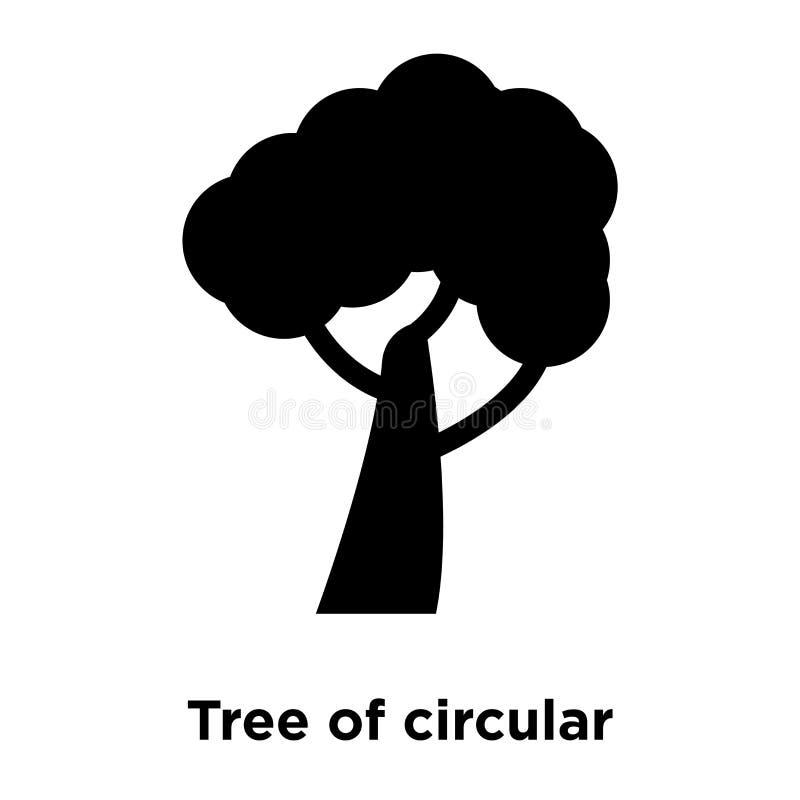 Träd av den runda lövverksymbolsvektorn som isoleras på vit backgroun royaltyfri illustrationer