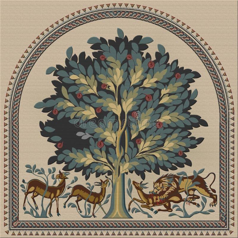`-Träd av liv`-mosaiken royaltyfri foto