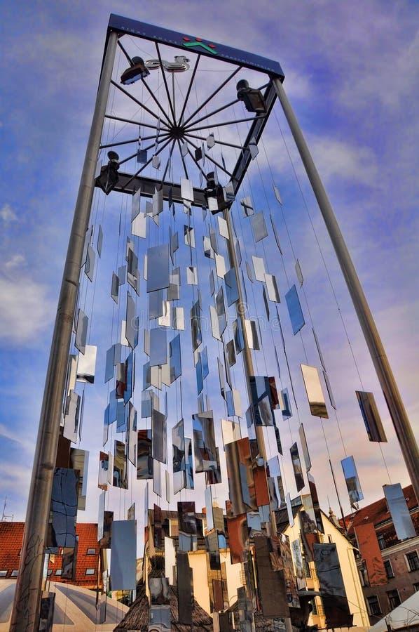 Träd av speglar, gamla Riga arkivfoton