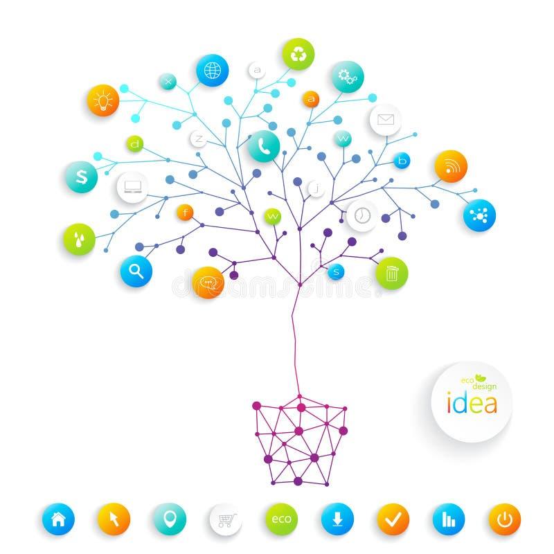 Träd för affärsplan med stället för din text och vektor illustrationer