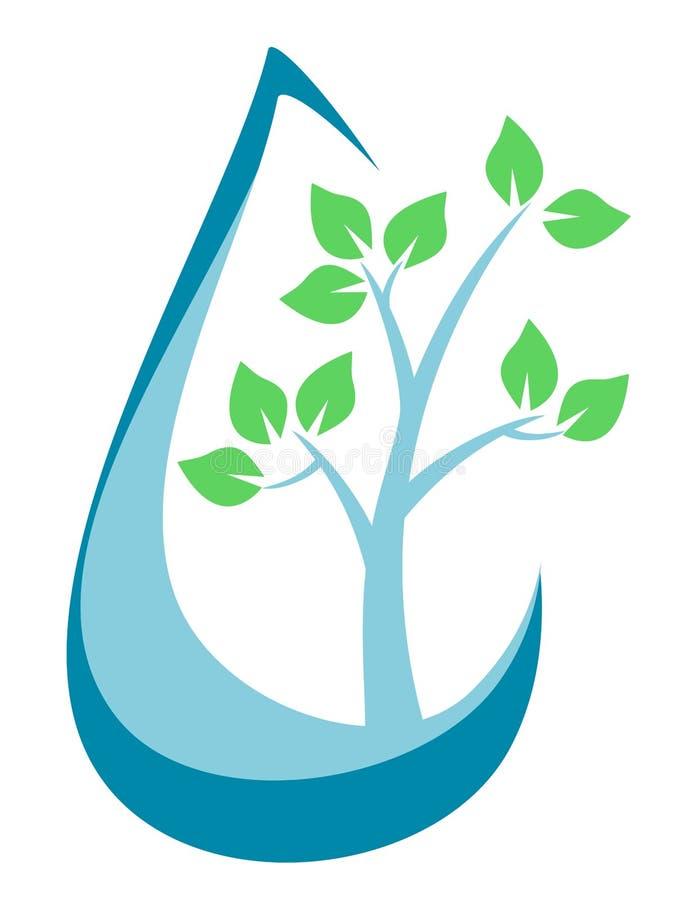 Träd inom regndroppen royaltyfri illustrationer