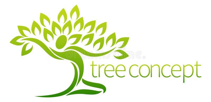 Träd Person Concept royaltyfri illustrationer