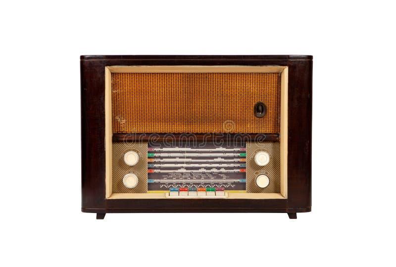 trädanad gammal radio royaltyfri foto
