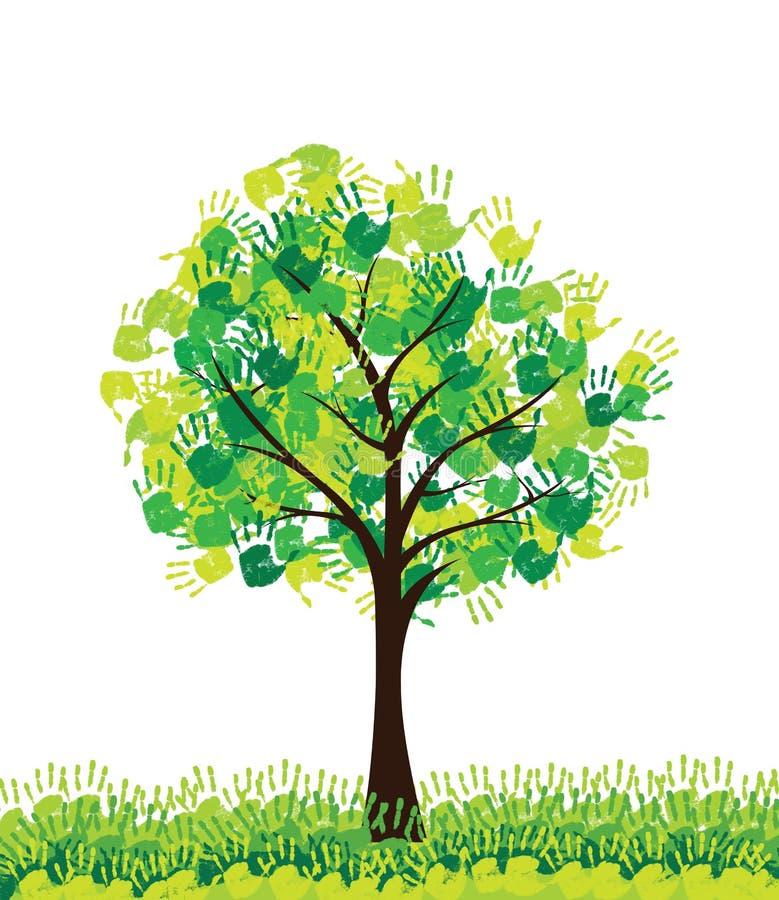 Trädbegrepp royaltyfri illustrationer