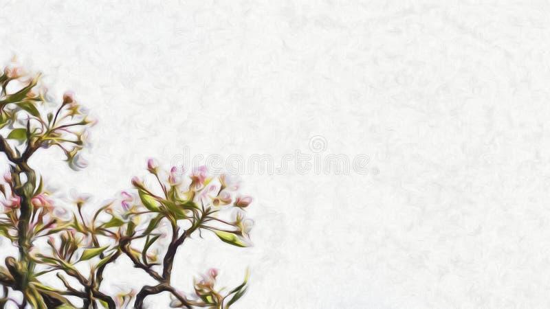 Trädblomningillustration royaltyfria bilder