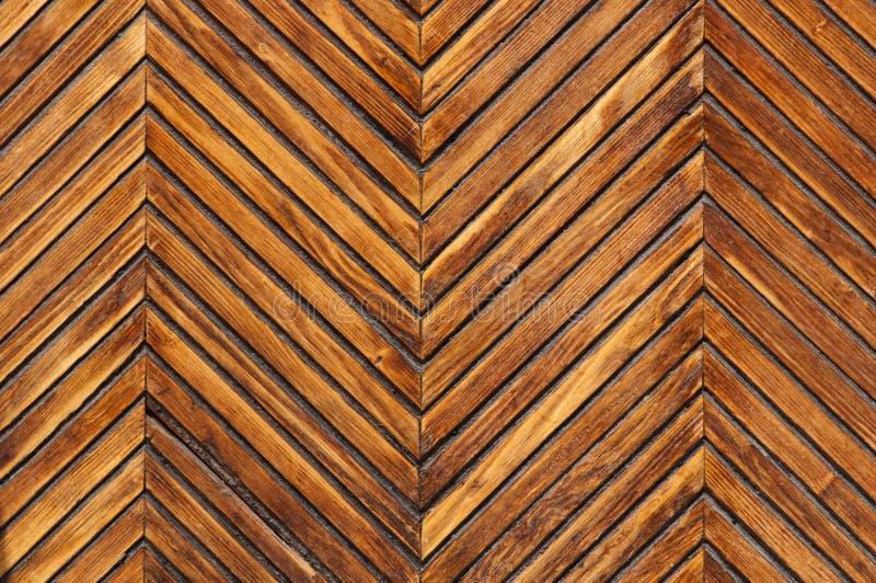 Trädekorativ väggtextur arkivfoto