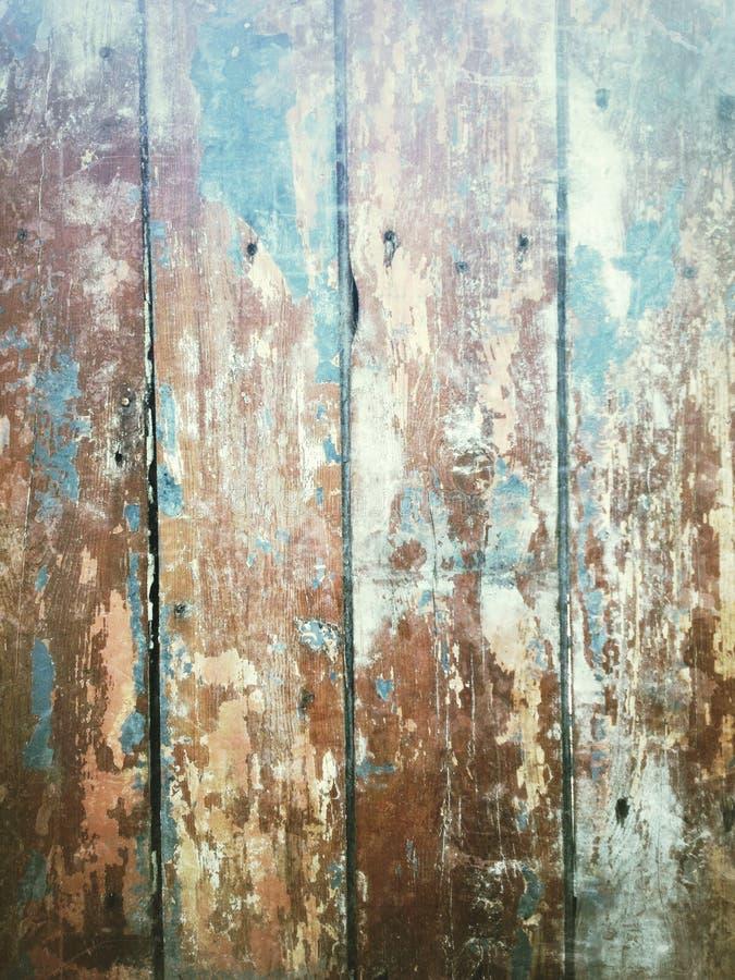 trädemaged trä för golvgrungetextur arkivfoto