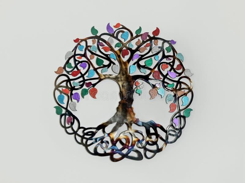Trädet av andlig symbolgarnering för liv royaltyfri fotografi