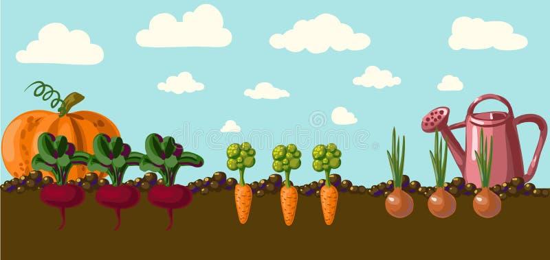 Trädgård.  vektor illustrationer