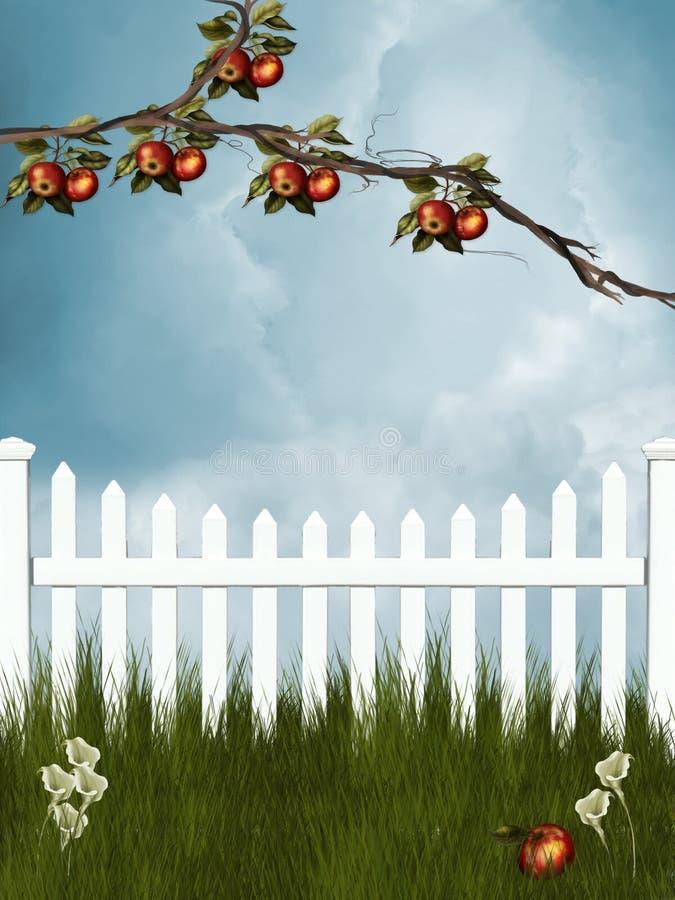 trädgård stock illustrationer
