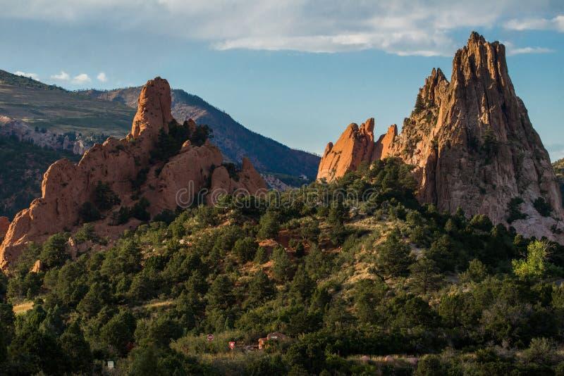 Trädgård av gudarna Colorado Springs arkivbild