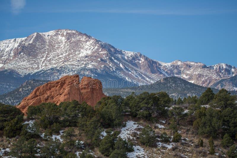 Trädgård av gudarna Colorado Springs royaltyfri foto