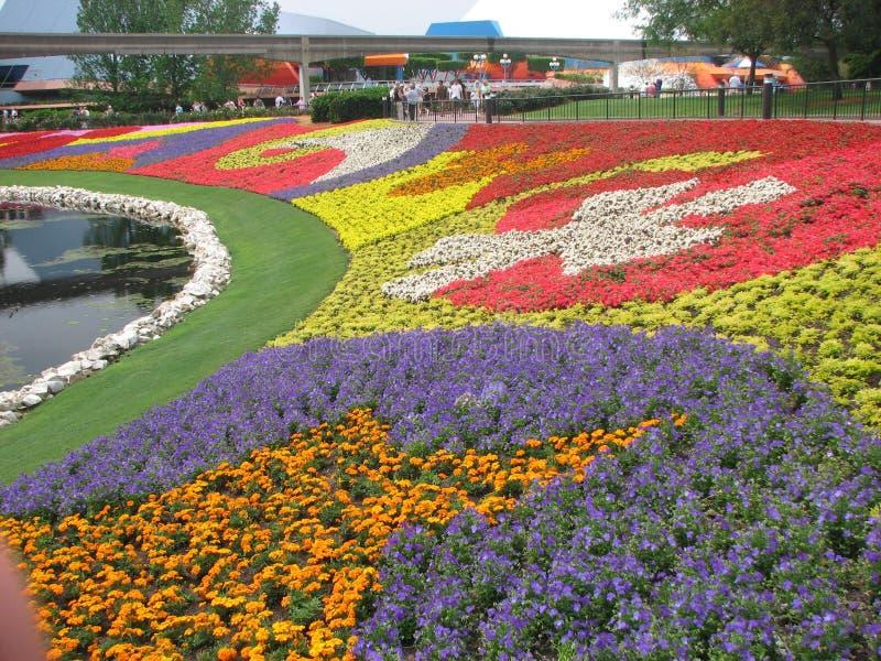 trädgård för epcotfestivalblomma arkivbilder