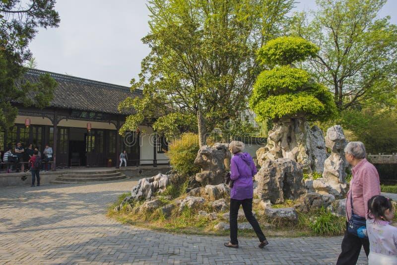 Trädgård för Rugao vattenmålning royaltyfria foton