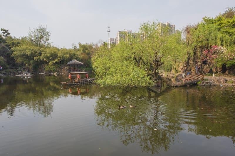 Trädgård för Rugao vattenmålning fotografering för bildbyråer