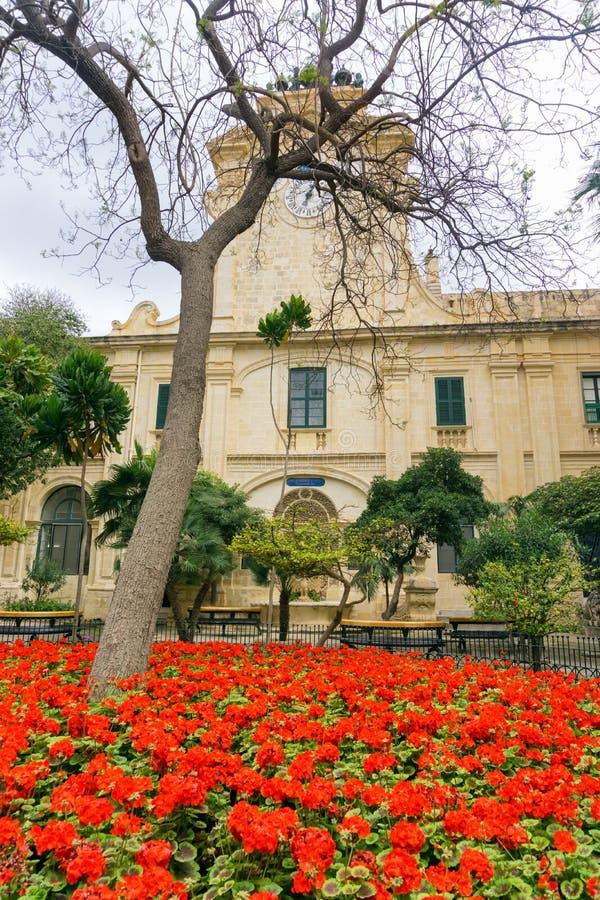 Trädgård för slott för Grandmaster` s, Malta royaltyfri bild