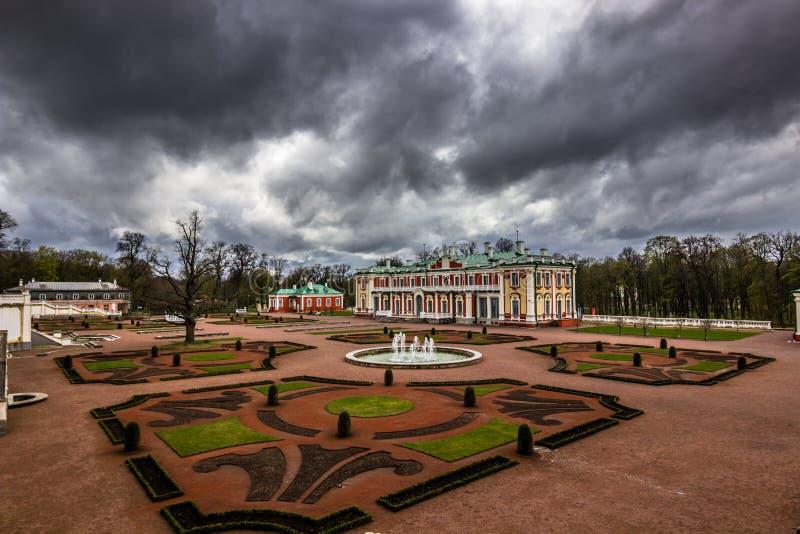 Trädgårdar av den Kadriorg slotten, Estland royaltyfria bilder