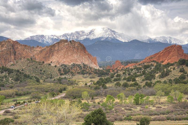 Trädgårdar av gudarna, Colorado Springs, USA royaltyfri foto
