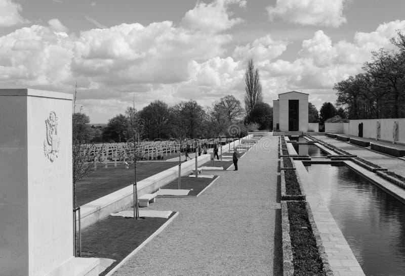 Trädgårdar av minnet för amerikanska döda för krig WW2 royaltyfri foto