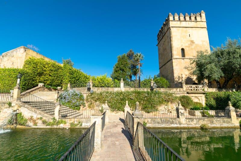 Trädgårdar av seville, Spanien arkivfoton