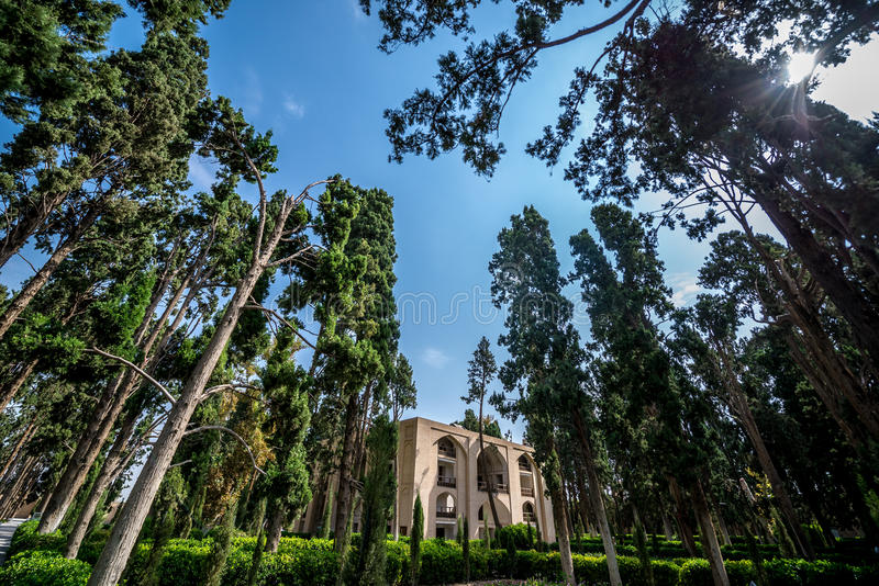 Trädgårdar i Kashan royaltyfri bild