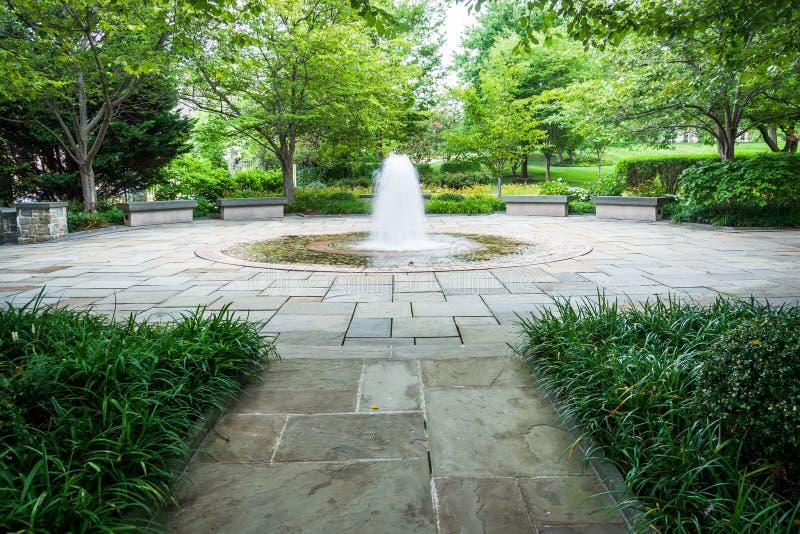 Trädgårdar och springbrunnar på Mary'sens trädgård, på basilikan av t fotografering för bildbyråer