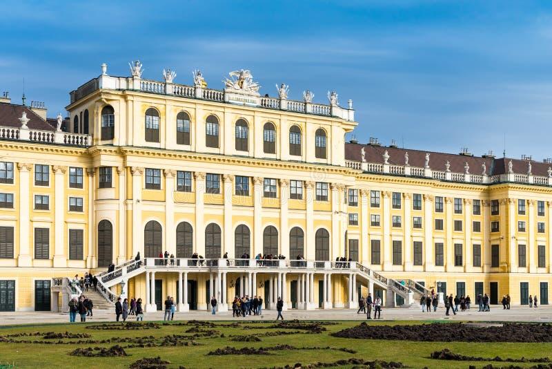 Trädgården i den Shonbrunn slotten, Wien Wien, Österrike royaltyfri bild