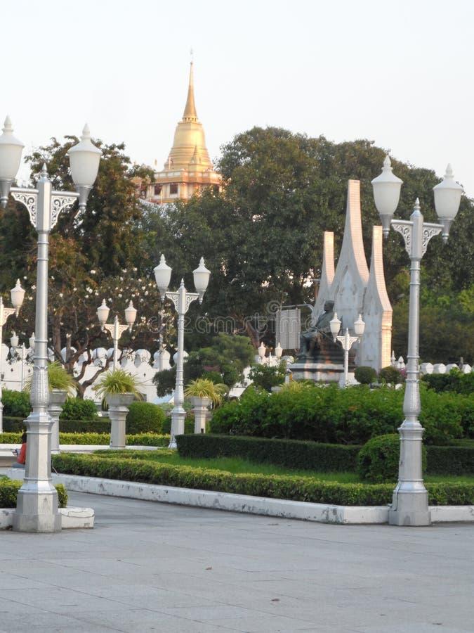 Trädgården parkerar foto i Bangkok, är Thailand där många thailändska intressanta ställen både och utländska turister Komm att ko royaltyfri fotografi