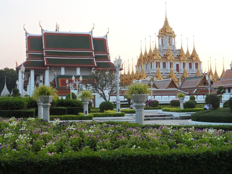 Trädgården parkerar foto i Bangkok, är Thailand där många thailändska intressanta ställen både och utländska turister Komm att ko royaltyfria foton