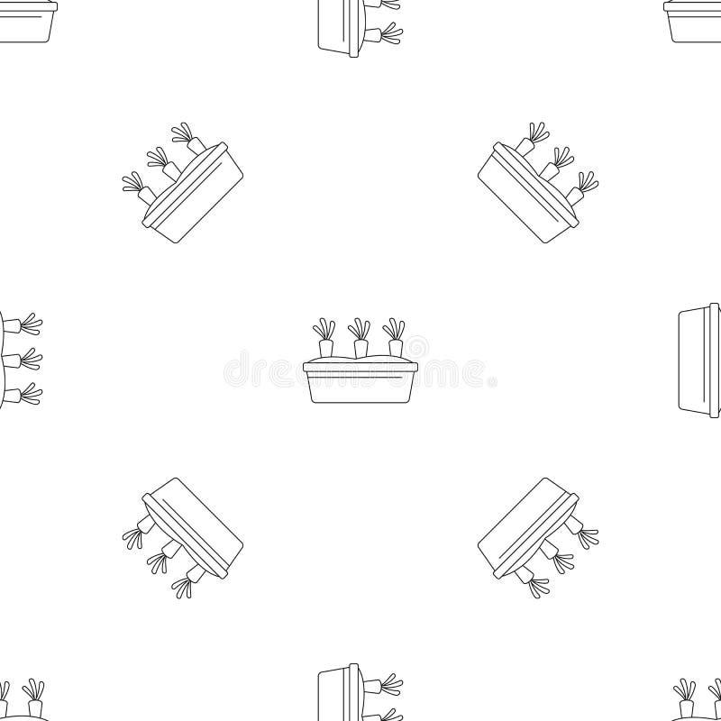 Trädgårdmorötter mönstrar den sömlösa vektorn vektor illustrationer